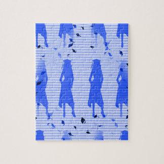 Absolvent-Mädchen-blauer gestreifter Strudel Puzzle