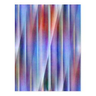 Abstact Blau durch Christine Bässler Postkarte