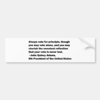 Abstimmung auf Prinzip-Zitat durch John Quincy Autoaufkleber