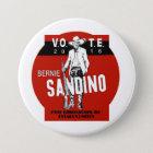 Abstimmung Bernie Runder Button 7,6 Cm