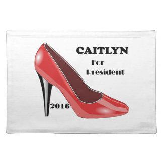 Abstimmung CAITLYN für Präsidenten! Tischsets