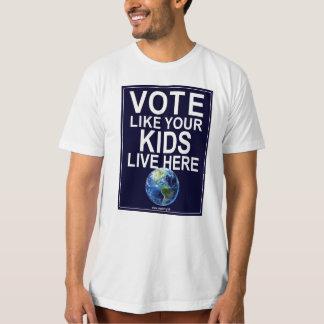 Abstimmung das T-Shirt der Männer wie Ihre Kinder