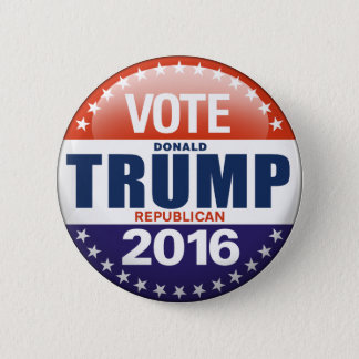 Abstimmung Donald Trump für Präsidenten 2016 Runder Button 5,1 Cm