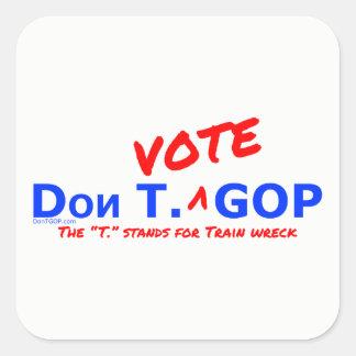 Abstimmung Dons T. Aufkleber Wrack GOP /Train