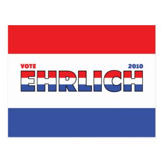 Abstimmung Ehrlich 2010 Wahlen rotes weißes und Postkarte