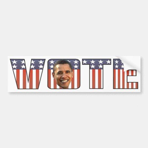 Abstimmung für Autoaufkleber Barak Obama