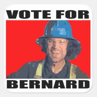 Abstimmung für Bernard Quadratischer Aufkleber