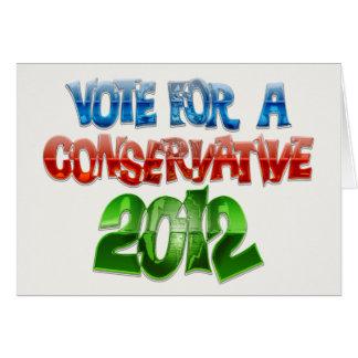 Abstimmung für einen Konservativen Karte