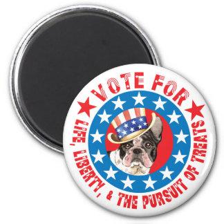 Abstimmung für Frenchie Runder Magnet 5,1 Cm