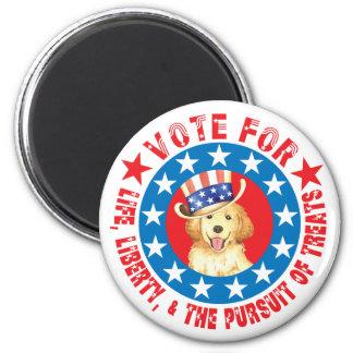 Abstimmung für Goldenes Runder Magnet 5,7 Cm