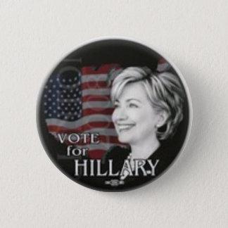 Abstimmung für Hillary Runder Button 5,1 Cm