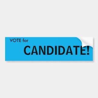 Abstimmung für… Kandidaten! Generischer Autoaufkleber