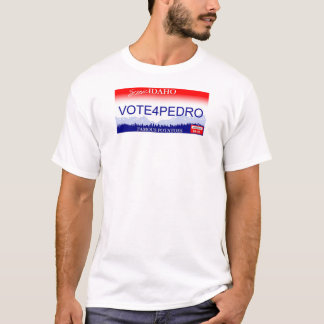 Abstimmung für Kfz-Kennzeichen Pedros Idaho T-Shirt