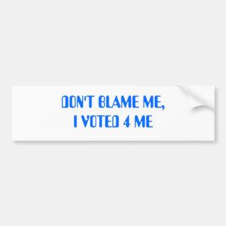 Abstimmung für mich Autoaufkleber