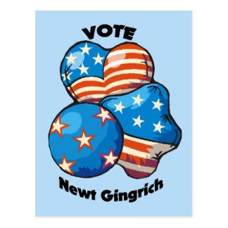 Abstimmung für Newt Gingrich Postkarte