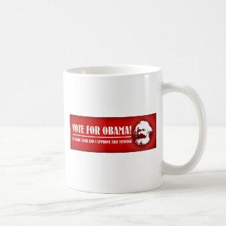 Abstimmung für Obama! Kaffeetasse