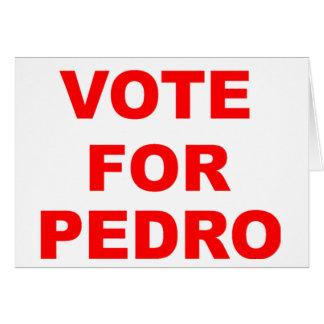 Abstimmung für Pedro Karte