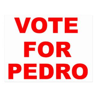 Abstimmung für Pedro Postkarte