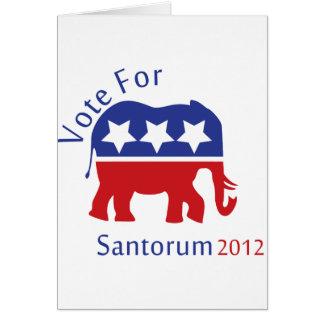 Abstimmung für Rick Santorum für Präsidenten 2012 Karte