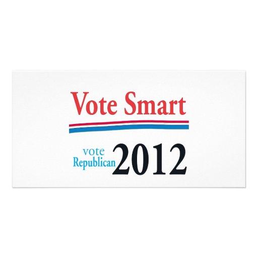 Abstimmung intelligent foto grußkarte