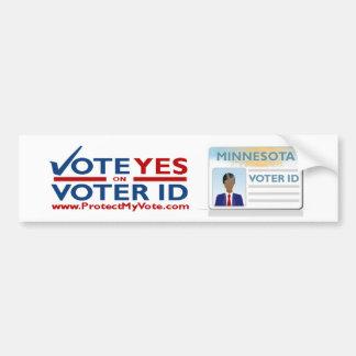Abstimmung ja auf Abstimmung Autoaufkleber