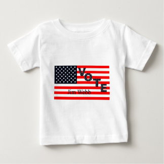 Abstimmung Jim Webb für Präsidenten 2016 Baby T-shirt