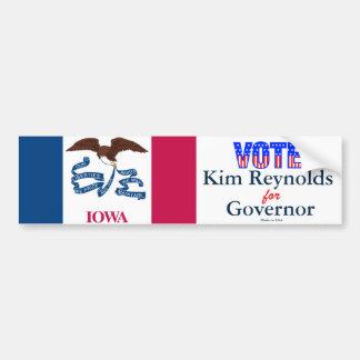 Abstimmung Kim Reynolds für Autoaufkleber