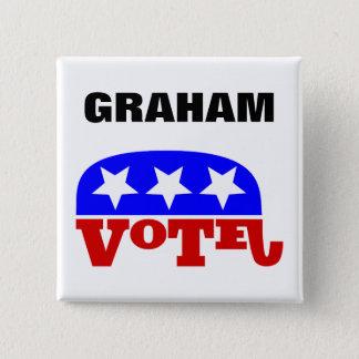 Abstimmung Lindsey Graham Republikaner-Elefant Quadratischer Button 5,1 Cm