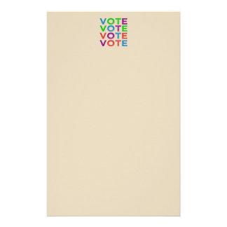ABSTIMMUNG mehrfarbig Briefpapier