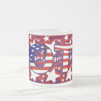 Abstimmung mit US Flagge - Matte Glastasse
