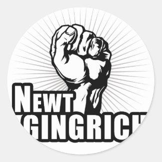 Abstimmung Newt Gingrich Runder Aufkleber