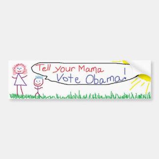 Abstimmung Obama Autoaufkleber