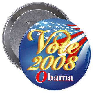 Abstimmung Obama - politischer Knopf Anstecknadel