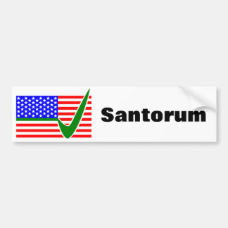 Abstimmung Rick Santorum für Präsidenten Autoaufkleber