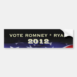 Abstimmung Romney Ryan Campign Autoaufkleber 2012
