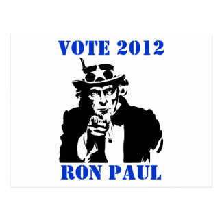 ABSTIMMUNG RON PAUL 2012 POSTKARTE