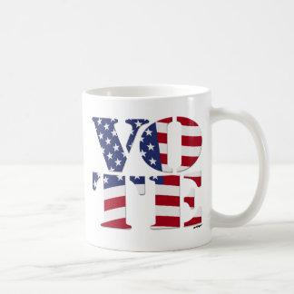 "ABSTIMMUNG ""V O T E"" mit US-FLAGGE Kaffeetasse"