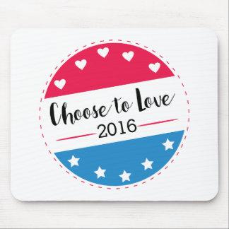 Abstimmung wählen zur Liebe Mousepad