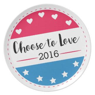Abstimmung wählen zur Liebe Teller