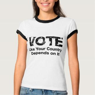 Abstimmung wie Ihr Land hängt von ihr ab T-Shirt