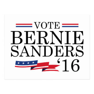 Abstimmungs-Bernie-Sandpapierschleifmaschinen 2016 Postkarte
