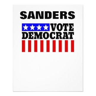 Abstimmungs-Bernie-Sandpapierschleifmaschinen Flyer