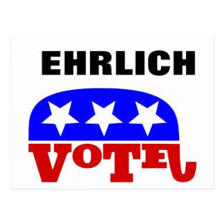 Abstimmungs-Bob Ehrlich Republikaner für Postkarte