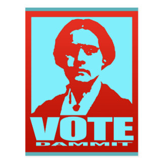 Abstimmungs-Dammit Pop-Art Susan B. Anthony Custom Postkarte