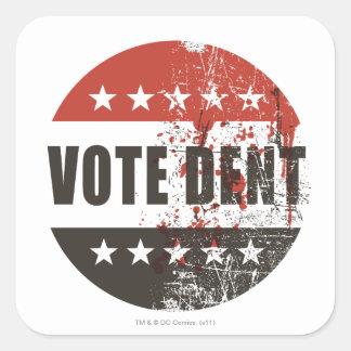 Abstimmungs-Einbuchtungsaufkleber