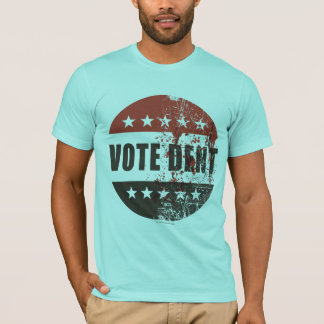 Abstimmungs-Einbuchtungsaufkleber T-Shirt