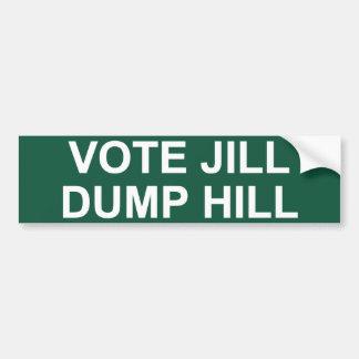 Abstimmungs-Jill-Dump-Hügel Autoaufkleber
