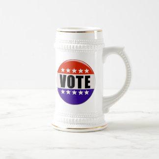 Abstimmungs-Knopf Bierglas