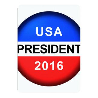 Abstimmungs-Knopf-Präsident Karte