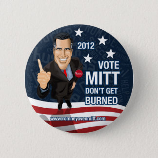 Abstimmungs-Mitt erhalten nicht gebrannt Runder Button 5,1 Cm